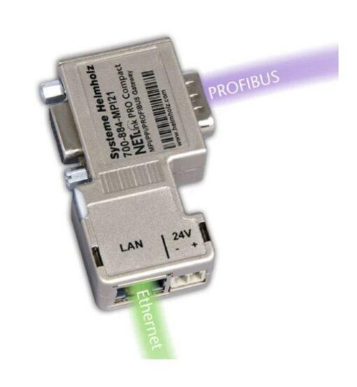 Helmholz NETLink PRO Compact, PROFIBUS Ethernet gateway, 700-884-MPI21
