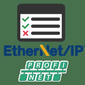 OSIRIS EtherNet/IP PROFINET logos